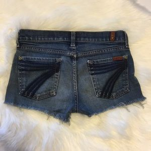 7 For All Mankind Dojo Cut off Shorts Size 26